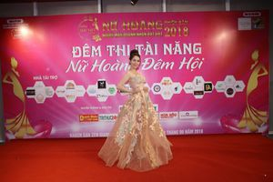 Cầm Thị Kiều Dung 'lộng lẫy' trong đêm thi tài năng Nữ hoàng Doanh nhân đất Việt 2018