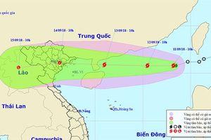 Bão số 5 trên Biển Đông giật cấp 10, siêu bão Mangkhut đang mạnh lên