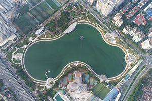 Toàn cảnh Công viên hồ điều hòa Nhân Chính