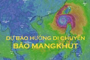 Dự báo mới nhất về siêu bão Mangkhut: Di chuyển về Bắc Biển Đông, tâm bão mạnh cấp 16