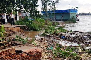 An Giang: Sông 'ngoạm' bờ 25m, di dời khẩn cấp 11 hộ dân
