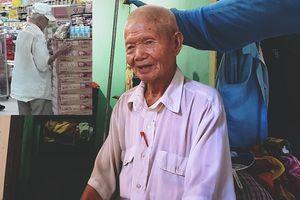 Phía sau bức ảnh cụ ông đợi mua cơm thanh lý 10.000 đồng: Cha già 90 tuổi chăm sóc con trai tàn tật