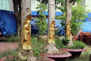 Điêu khắc tượng lên thân cây bán giá hàng chục triệu đồng