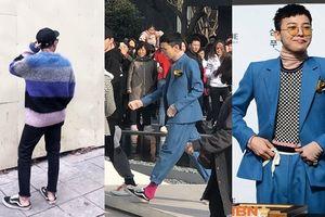 Giày giẫm gót 'cái bang', phong cách 'thảm họa' của G-Dragon được sao Việt hưởng ứng