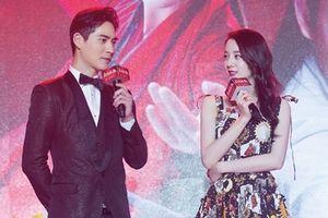 Địch Lệ Nhiệt Ba đẹp không góc chết trong buổi họp báo ra mắt phim mới