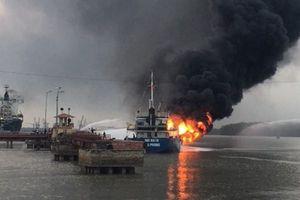 Toàn cảnh vụ cháy tàu dầu Hải Hà 18 ở Hải Phòng