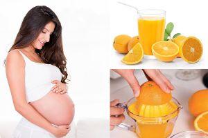 Bà bầu uống nước cam được không, uống thế nào mới tốt cho cả mẹ và con?