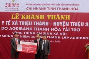 Agribank Thanh Hóa bàn giao công trình Trạm y tế xã Triệu Thành