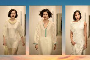 Váy ngủ hai dây lụa mỏng xuyên vòng 1 tiếp tục được lăng-xê ở show xuân hè của Li Lam