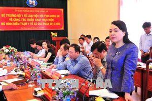 Bộ trưởng Bộ Y tế thị sát mô hình điểm trạm y tế tại Long An