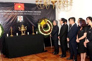 Đại sứ quán Việt Nam tại Mexico tổ chức lễ viếng nguyên Thủ tướng Phan Văn Khải