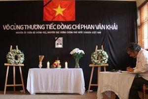 Bạn bè thế giới bày tỏ tiếc thương nguyên Thủ tướng Phan Văn Khải