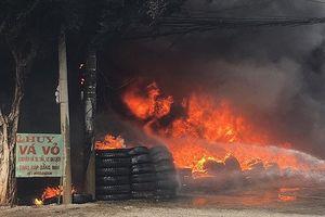 Cháy lớn ở cơ sở vá vỏ ôtô Bà Rịa - Vũng Tàu