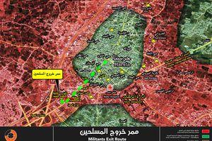 Syria bắt đầu di tản 1.500 chiến binh đầu hàng ở Đông Ghouta về Idlib