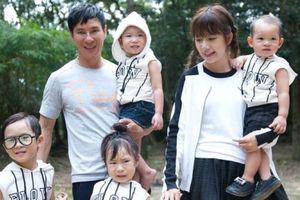 Vợ Lý Hải đưa 4 con đến phim trường thăm chồng