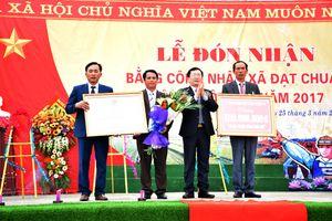 Diễn Xuân (Diễn Châu) đón nhận Bằng công nhận xã đạt chuẩn nông thôn mới