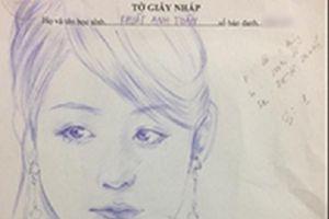 Cười ra nước mắt với 'kiệt tác' vẽ trong phòng thi của chàng trai 10X