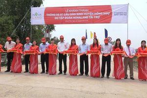 Nguyên Chủ tịch nước Trương Tấn Sang dự lễ khánh thành 7 cây cầu dân sinh