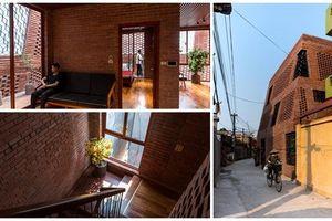 Nhà hai lớp tường gạch đẹp độc lạ ở ngoại thành Hà Nội