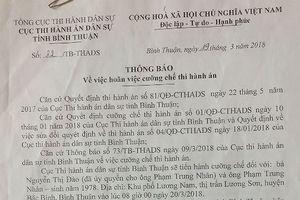 Tiếp vụ tranh chấp đất ở Bình Thuận: Cơ quan thi hành án hoãn cưỡng chế để xem xét lại