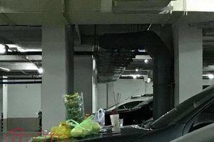Nguy cơ cháy nổ đe dọa hàng ngàn cư dân vì tục... cúng xe dưới tầng hầm
