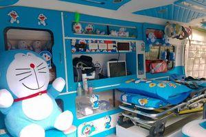 Độc đáo xe cứu thương hình Doraemon