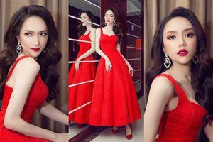 Hoa hậu Hương Giang hóa công chúa với đầm xòe đỏ rực làm 'chao đảo' mọi ánh nhìn