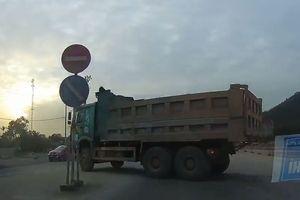 Xe tải phóng ngược chiều vun vút trên cao tốc Hạ Long - Uông Bí