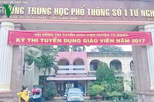 Chấm phúc khảo thi tuyển giáo viên ở Quảng Ngãi có dấu hiệu bất thường