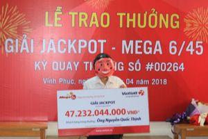 Chủ nhân giải Jackpot trị giá 47 tỷ đồng công khai tên họ