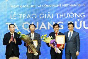 9 nhà khoa học được đề cử Giải thưởng Tạ Quang Bửu năm 2018