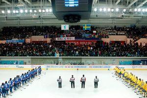 Đội hockey nữ liên Triều lần đầu ra sân thi đấu