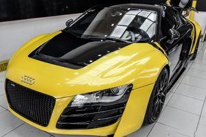 Không còn nhận ra được siêu xe Audi R8 độ khủng nhất VN