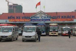 Bến xe trung tâm Tp. Vinh chuyển ra ngoại thành từ ngày 11/4