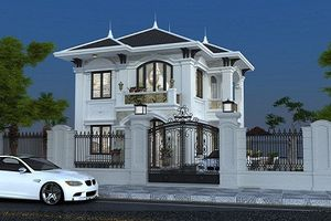 Mãn nhãn biệt thự trắng cổ điển sang trọng giữa phố Sài Gòn