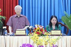 Tổng Bí thư Nguyễn Phú Trọng làm việc với tỉnh An Giang