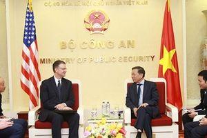 Bộ trưởng Tô Lâm tiếp Đại sứ Hoa Kỳ tại Việt Nam