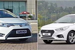 Hyundai Accent quyết đấu Toyota Vios: Giá trị hay thương hiệu?