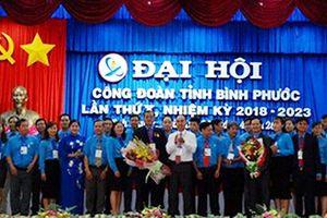 Ông Nguyễn Hồng Trà tái đắc cử Chủ tịch Liên đoàn Lao động tỉnh Bình Phước