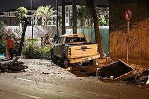 Xác định danh tính lái xe bán tải húc hàng loạt xe máy khiến 2 người chết
