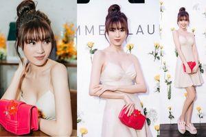 Theo đuổi phong cách gợi cảm, Ninh Dương Lan Ngọc diện đầm hai dây sexy ở sự kiện