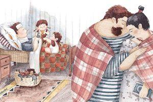 Bộ tranh gia đình và hạnh phúc giản đơn, dù bạn là ai cũng sẽ thấy ấm lòng