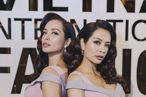 'Giống nhau như 2 giọt nước' Thùy Hằng- Thúy Hạnh làm khó khán giả VIFW 2018