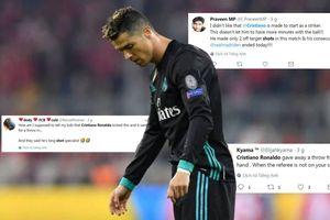 Ronaldo bị cười nhạo vì cú sút xa tệ hại trong trận gặp Bayern