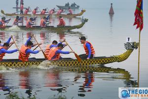 Náo nhiệt Lễ hội bơi chải thuyền rồng Hà Nội mở rộng 2018