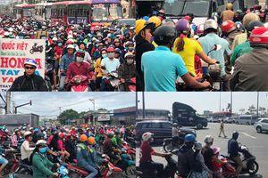 Cửa ngõ Đông, Tây về các tỉnh ở TP HCM đều trong tình trạng 'thất thủ'