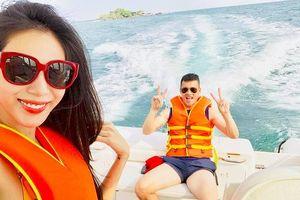 Thủy Tiên đăng ảnh đi du lịch bằng du thuyền cùng Công Vinh