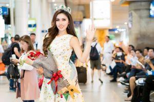 Thư Dung rạng rỡ về nước sau khi đạt Á hậu 2 Miss Eco International 2018