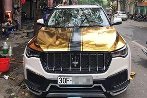 Xe Zotye T700 Tàu nhái Maserati 'nhuộm vàng' tại Hà Nội