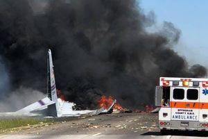 May bay vận tải quân sự chở theo 9 người rơi ở Mỹ